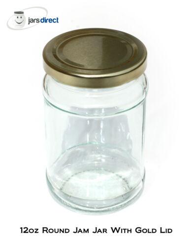 QTY 30 x 12oz GLASS JAM JARS SUITABLE FOR JAMS PRESERVES CHUTNEY /& HONEY