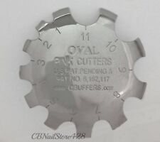 Q French Pink & White Cutter Tool PINK CUTTERS OVAL 1-11