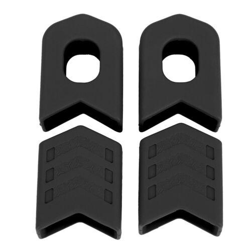 Details about  /1 Pair Bicycle Protectors Crank arm Boots Silicon MTB Bike Crankset Protective