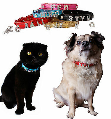 Hundehalsband Halsband Name Hund Katze Welpen Wunschname Strasshalsband