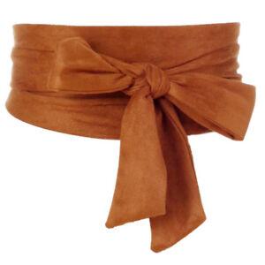 Japanese-Retro-Bows-Obi-Belt-Wide-Strap-Sash-Tie-Coat-Dress-Corset-Wiastband-Red
