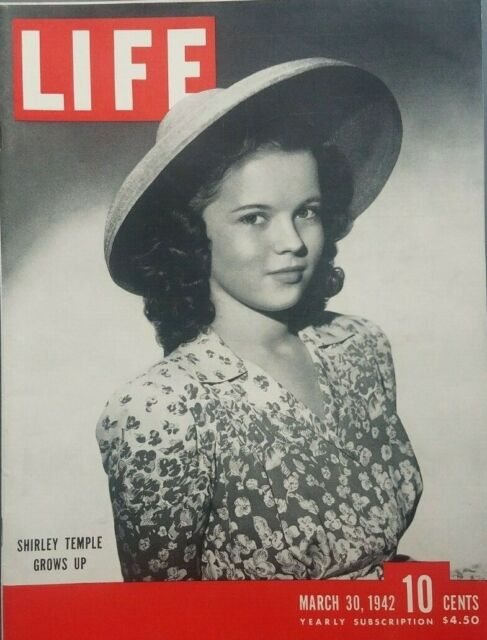 Life Magazine March 30 1942 WW2 Shirley Temple Cover Photo Flying Tigers