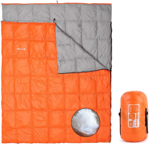 3.7lbs Mssohkan Double Sleeping Bag,Big Size 87inX65in ,Waterproof 2 Person Down
