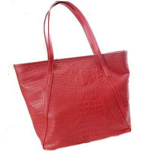 Designer Womens Faux Patent Leather Large Style Tote Shoulder Handbag Satchel
