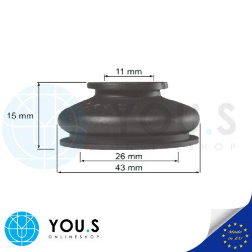 2 Stk Universal Spurstange Schutz Spurstangenkopf Gummi Manschetten 11 26 15 NEU