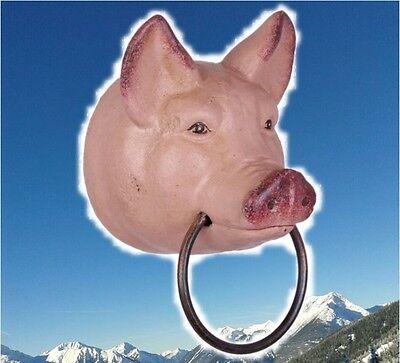 Handtuchhalter Schweinekopf Eisenguss Sau geiles Geschenk Küchen /& Ausstattung1