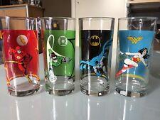 DC Comics super hero glasses - new - complete set