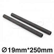 """CGPro 10""""/250mm High Strength Carbon Fibre Rods (Pair) for 19mm Support System"""