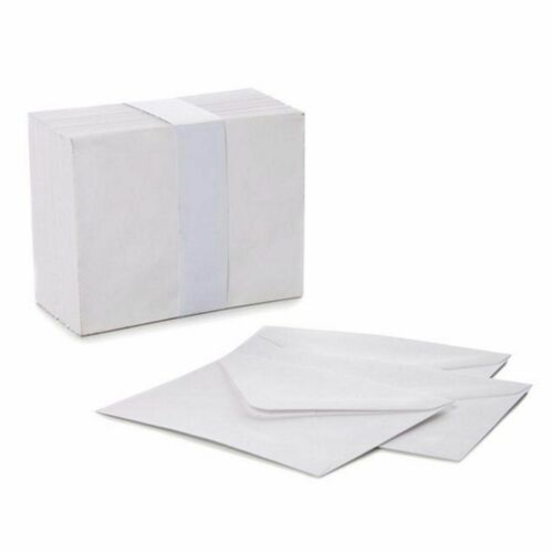 50 MINI WHITE ENVELOPES small cards tags thank you wedding RSVP seeds 85 x 110mm
