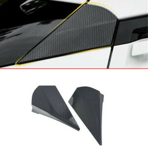 For 2016-2020 Toyota CHR C-HR Carbon fiber Rear Window Spoilers Wing Cover Trim