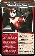 DC UNIVERSE TOP TRUMPS CARD HARLEY QUINN