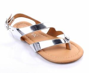 Black Summer New Cute Slip-On Kids Flats Girls Youth Sandals Shoes Size 9-4