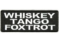 "(M) Whiskey Tango Foxtrot 4"" x 1.75"" patch (3485) Biker vest Cap Hat"