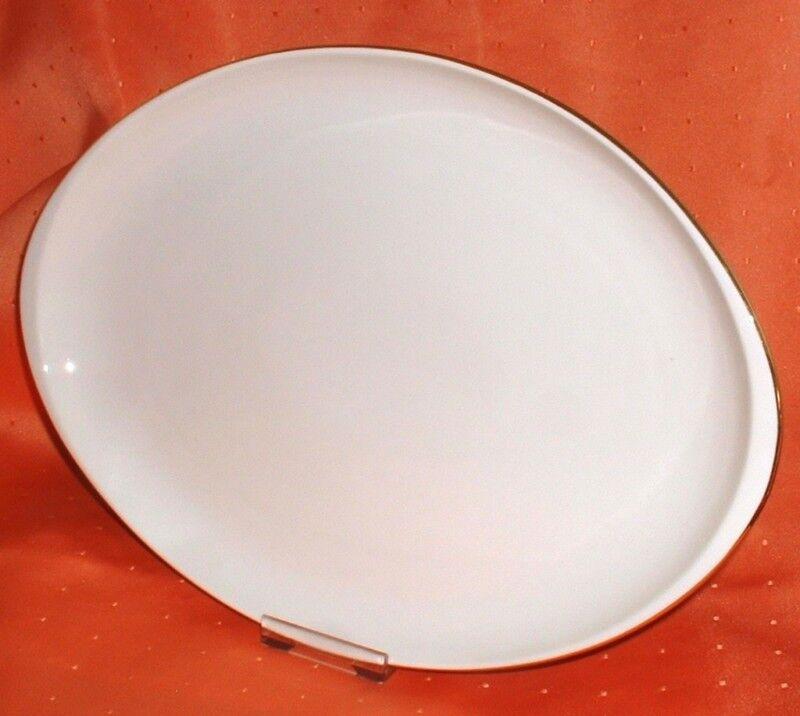Fürstenberg 654 FÜRSTIN Goldrand 2422 2422 2422  Platte oval 32 x 23 cm (Dekor Goldring) | Lebhaft  30d789
