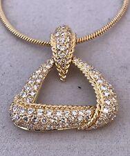 DIAMOND PENDANT WITH CHAIN 18K YG, 1.00 C OF DIAMONDS, RET. APPR. USD $2,850.00