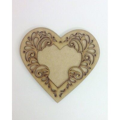 Heart Frame on a Plain Heart mdf sign grandad craft sign wood sign  A244
