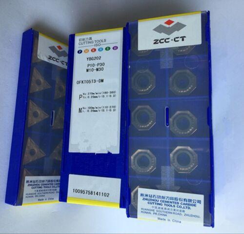 ZCC OFKT05T3-DM YBG202 P10-P30 M10-M3 CARBIDE INSERTS 10PCS