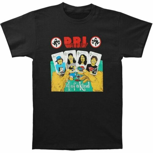 """D.R.I FREE SHIPPING /""""4 Of A Kind/"""" Black T-Shirt"""