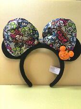Tokyo Disney Halloween Ghost pumpkin Mickey Triangle witch Hat Cap Headband