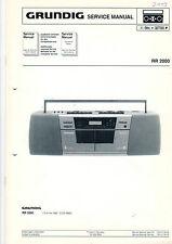 Grundig Service Anleitung Manual RR 2000  B466