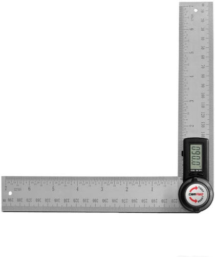 GemRed 82305 Digital Protractor Angle Finder Stainless Steel Ruler 200mm//7inch