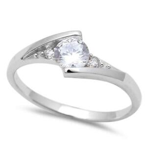 New-Round-Solitaire-Cz-Fashion-925-Sterling-Silver-Ring