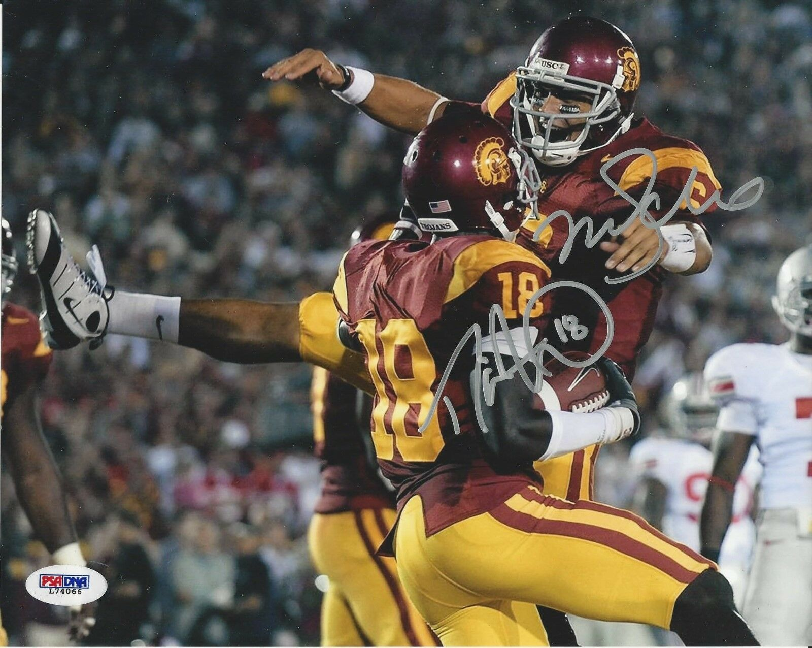 Mark Sanchez & Damian Williams USC Trojans signed 8x10 photo PSA/DNA # L74066