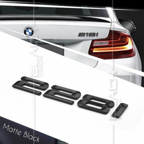 MATTE BLACK 228i REAR BOOT NUMBER EMBLEM BADGE FOR BMW F22 COUPE F45 2 SERIES
