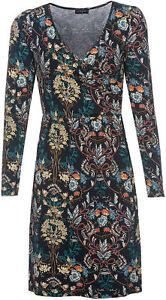 Wrap Boheme Kleid Maria Rockabilly neck Vintage Dress Vive Hippy V Ranken wa7Z4xCq