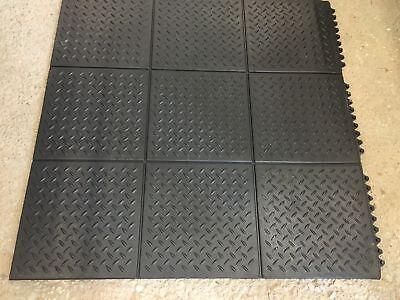 Rubber Garage Mats >> Checker Gym Rubber Garage Workshop Professional Gym Floor Delta Mart Tiles Mats Ebay
