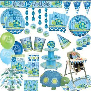 1 geburtstag junge blau kindergeburtstag tier party for 1 geburtstag deko set