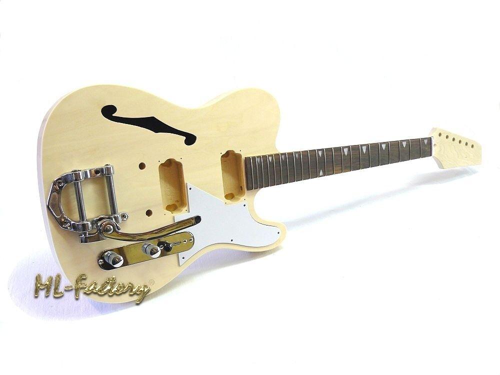 E-Gitarren-Bausatz/Guitar DIY Kit ML-Factory® Style II Hollow Body mit Tremolo