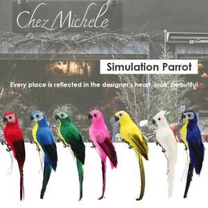 Deko-Grosse-Papagei-Vogel-Figur-Voegelchen-aus-Kuenstliche-Feder-Gefiederte-Dekor