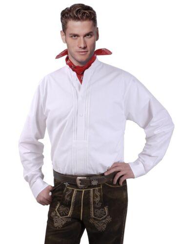 TRACHTEN Camicia uomo manica lunga a maniche corte collo alla coreana Cotone Camicia Collo Alla Coreana Bianco