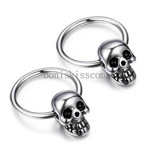 Image Is Loading Punk Rock Silver Stainless Steel Men 039 S