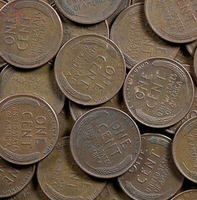 10 ROLLS G-BU! BAG OF 500 LINCOLN WHEAT CENTS! NICE MIX 1909-1958 P-D-S