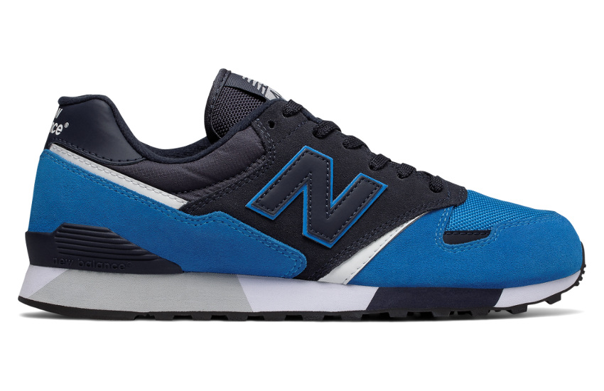 NEW BALANCE 446 U446LBW BLACK/BLUE/WHITE - RETRO - SUEDE MESH - JOGGER