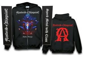 MASTERS-OF-DISGUISE-Alpha-Omega-Kaputzenjacke-Zipper-size-XXL-US-Speed-Metal