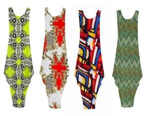 Womens-Printed-Baggy-paisley-Midi-Ladies-Oversized-Parachute-Dress-plus-size