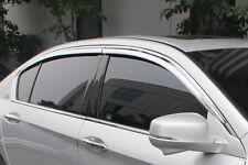 Fits Buick Lacrosse 2010-2015 RI ABS Chrome Tape On Window Visors Rain Guards