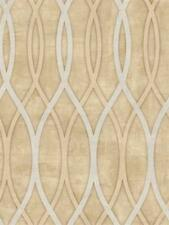 Wallpaper Modern Wavy Wave Silk Stripe on Cream Satin Finish
