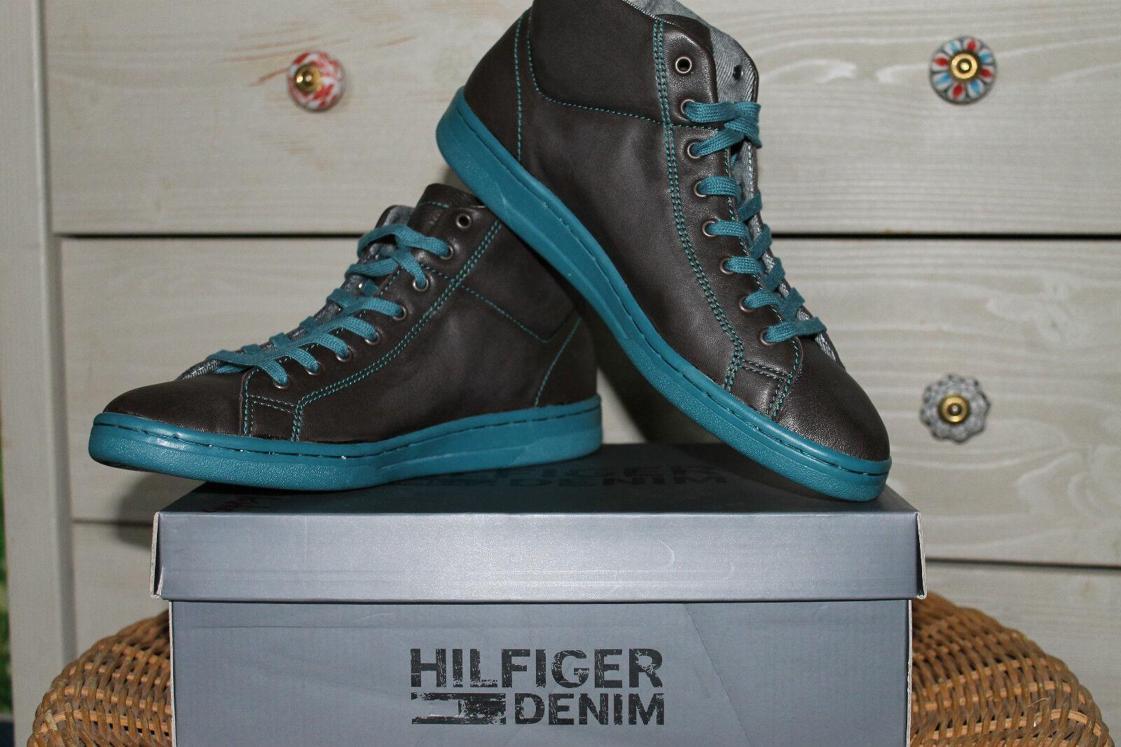TOMMY HILFIGER Sneakers Gr.40 NEU ECHT LEDER washed Leder TURNSCHUHE LUXUS