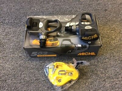 MICHE 502 Clipless Pedals with cleats Tension adjuster