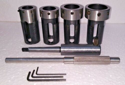 Lathe Tailstock Die Holder Set Of 4 Floating Type MT1 SHANK Holds Imperial Die