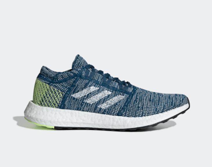 New Adidas Pureboost Go Legmar White Hireye Running shoes ( B37804 ) bluee Green