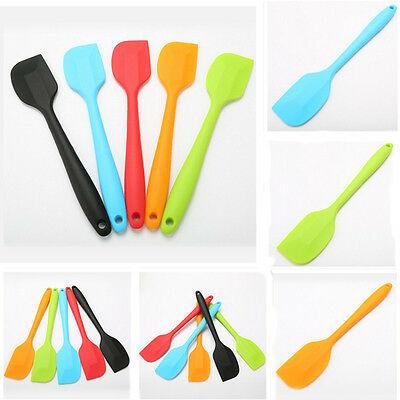 Silicone Cake Cream Butter Spatula Baking Tool Mixing Batter Scraper Brush