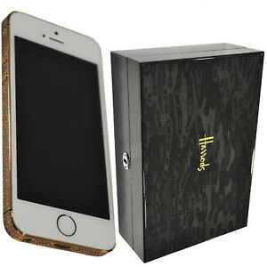 5e5db2bb63ee5 Details about New Luxury Apple Iphone 5S White 64GB Customised 24CT Gold +  Swarovski Elements