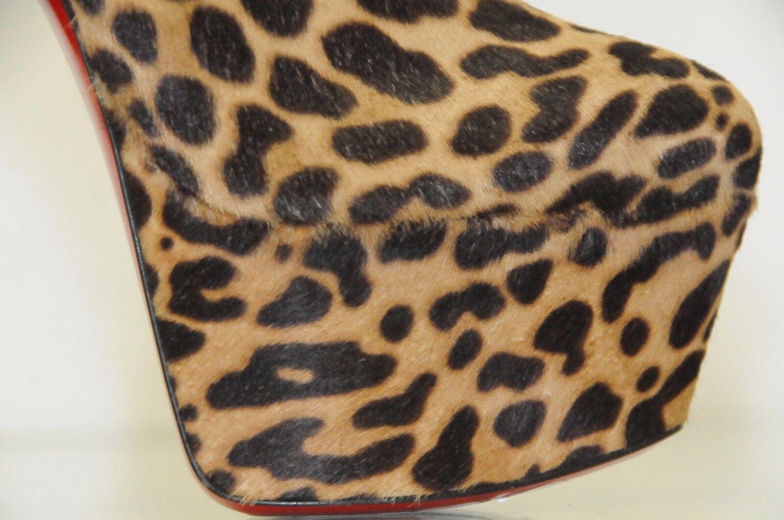Nuevo Pony Christian Louboutin Feroz Leopardo Pony Nuevo Jaguar botas de Plataforma 37 38 2a94f4