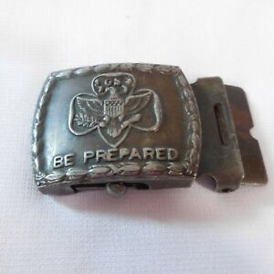 Vintage-Girl-Scouts-Be-Prepared-Belt-Buckle-Only-1920s-or-1930s