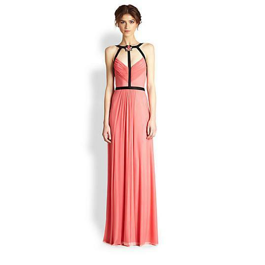 Nwt Alon Livne Runway Stella Tüll Rosa Jeweled Riemchen Abendkleid Maxi Kleid 8